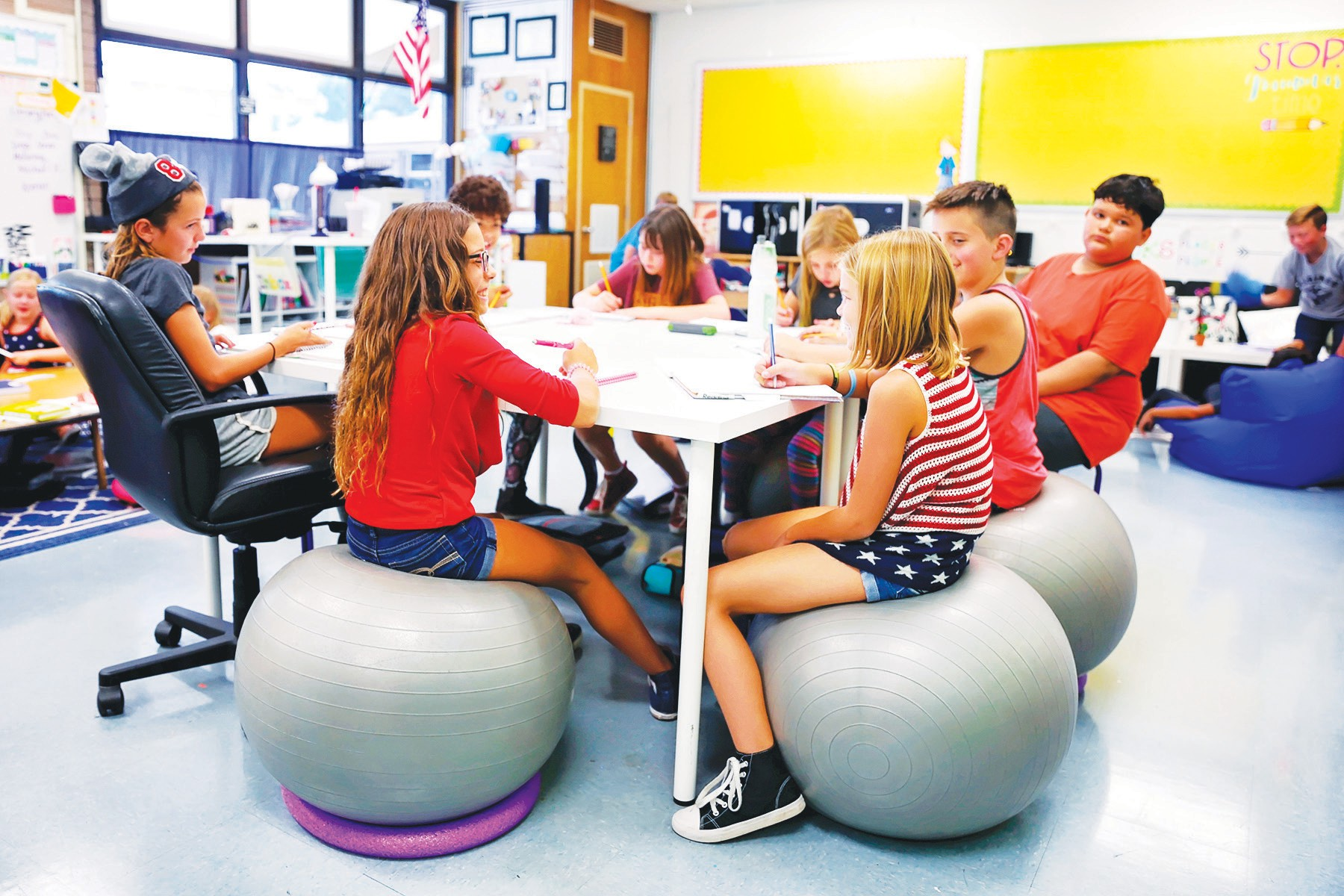 Ball Chairs For Elementary Students My Current 1st Grade Room e