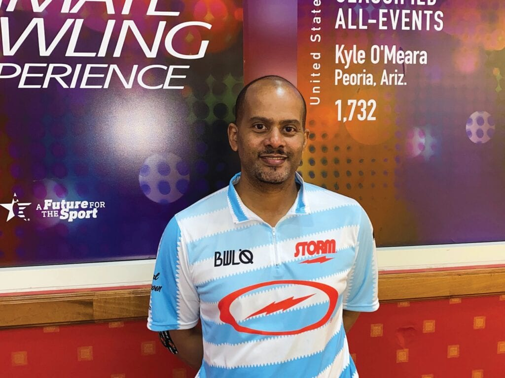 ON THE MONEY — Newbury Park's Marvin Hale played a perfect 300 game last weekend at the US Congressional Open Bowling Championships in Vegas.  The 47-year-old finished third overall.  Courtesy photo