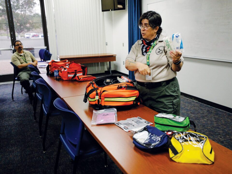 DART members use medical training to help public