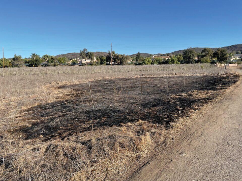 Spot fires contained in Rancho Potrero
